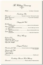 sle of wedding programs ceremony a traditional wedding ceremony order of events contemporary