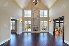 two story stone fireplace room design ideas amazing simple on two