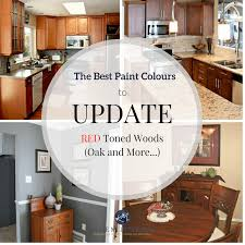 kitchen painting ideas with oak cabinets the best paint colours to go with oak or wood trim floor