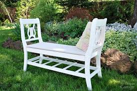 How To Make An Outside Bench How To Make A French Styled Bench From Old Chairs