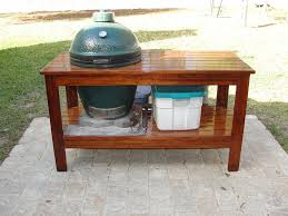 large green egg table mahogany big green egg table by dustymark lumberjocks com