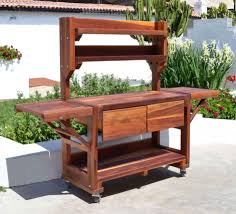 Outdoor Potting Bench With Sink Redwood Outdoor Furniture