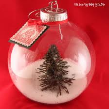 diy snow globe ornament tutorial
