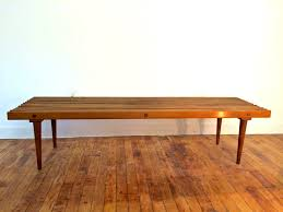 Slat Bench Coffee Table Mid Century Modern George Nelson Style Slat Bench In 649 Morgan