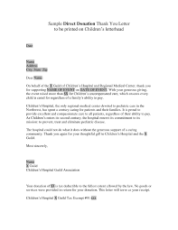 thank you letter to business for donation the letter sle