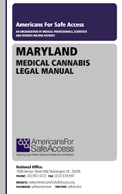 maryland medical marijuana cannabis laws americans for safe access