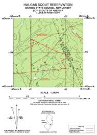 Wintergreen Map Halgas Scout Reservation Garden State Council