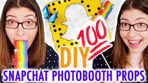 diy snapchat photobooth props hgtv handmade youtube