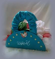 wedding bouquet blue purse decoration with flowers and dove blue