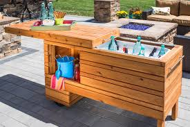 Cooler Patio Table Remodelaholic Brilliant Diy Cooler Tables For The Patio With