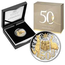 50th anniversary gold plate 50c 2016 50th anniversary of decimal currency selectively gold