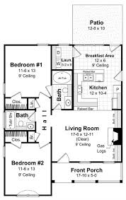 small house floor plans 1000 sq ft country home plan 2 bedrms 2 baths 1000 sq ft 141 1230