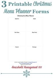 printable christmas menu planner forms