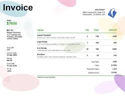 invoice template 39 best templates of service billing invoice