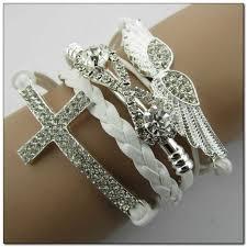 crystal cross bracelet images Mkd novelty alloy angel wings cross crystal infinity bracelet jpg