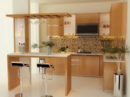 fancy modern home bar with diy veneer table also hanging glass