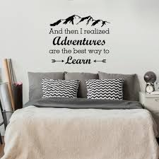 wall decal and then i realized adventures are the best way to details wall decal