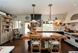 Urban Farmhouse Kitchen - farmhouse kitchen with bookshelves rooster hooked on houses