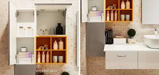 Acrylic Bathroom Storage Wall Mounted Bathroom Medicine Cabinet Oppeinhome