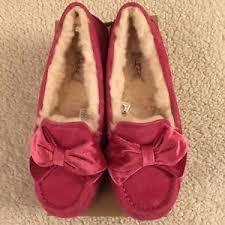 ugg slippers sale ebay ugg slippers size 7 s clara velvet ribbon bow slippers