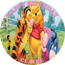 winnie the pooh cake topper winnie the pooh edible cake topper