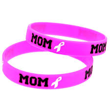 pink silicone bracelet images Pbr082 10 promotional gift breast cancer awareness wristband mom jpg