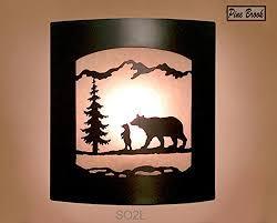 Elephant Wall Sconce Amazon Com Wall Sconce Rustic Bear Light Cabin Decor Lamp Pine