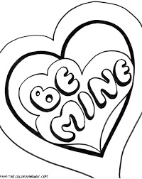 valentine coloring clipart 71