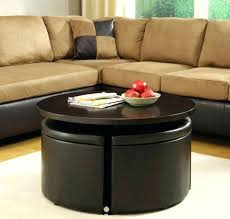 Glass Ottoman Coffee Table Marvelous Coffee Table With 4 Ottomans Brown Storage Ottoman