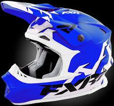 fxr motocross gear fxr blade helmet blue white for sale in libby mt northwest