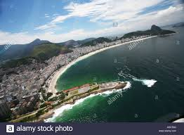 aerial landscape view from helicopter of rio de janeiro city stock
