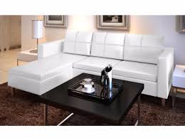 3 Seat Sectional Sofa White Leather Sectional Sofa 3 Seater L Shaped Modern Living Room