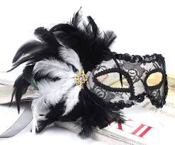 mask with feathers 2015 vintage black mask side feather lace princess masks