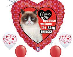 grumpy cat valentines grumpy cat balloons etsy