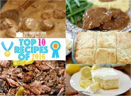 top 10 recipes of 2016 the country cook