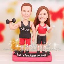 weight lifting cake topper weightlifter weight lifting wedding cake toppers