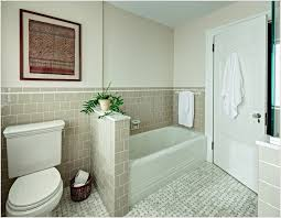 Bathroom With Beige Tiles What Color Walls Alcove Bathtub Bathroom Traditional New York 4x4 Tile Alcove Tub