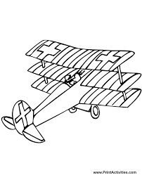 airplane coloring triplane