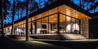 modern house building a modern residence is at one with nature mid century home