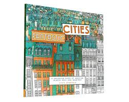 fantastic cities is an architecture themed coloring book for