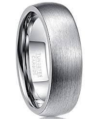 gunmetal wedding band nuncad gunmetal tungsten wedding band ring 7mm for men domed