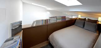 loft bed with slide in bedroom contemporary with tiny kitchen next