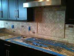 Travertine Tile For Backsplash In Kitchen - ceramictec 2 4 tumbled travertine back splash with glass tile
