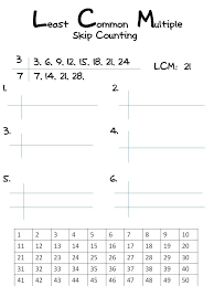 greatest common factor and least common multiple worksheets worksheets