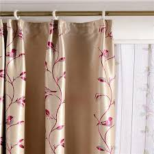 Asian Curtains Best Jacquard Birds Casual Asian Style Curtains