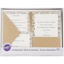 pocket invitation kits invitation kit makes 25 kraft home kitchen