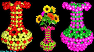 A Flower Vase Flower Vase Diy How To Make A Flower Vase Beaded Flower Vase