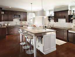 wood kitchen cabinets with white island anaheim kitchen cabinetry options pdc interiors