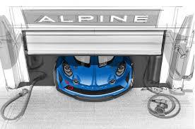alpine a110 track car teased