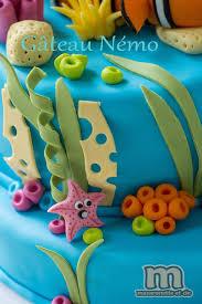 decoration theme mer sweet table némo le gâteau némo et quelques pas à pas en pâte à